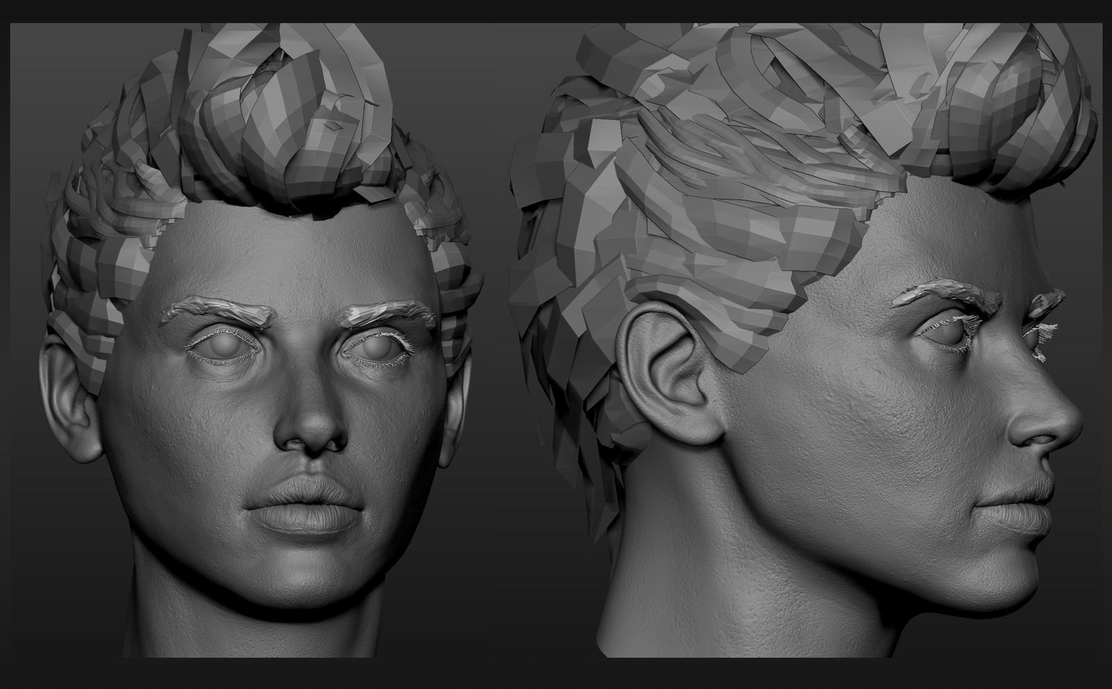 Mech Pilot Head Sculpt