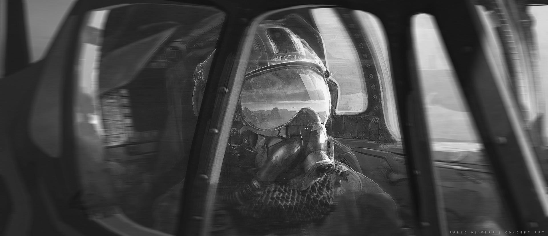 Pablo olivera helena pilot airplane concept art 06