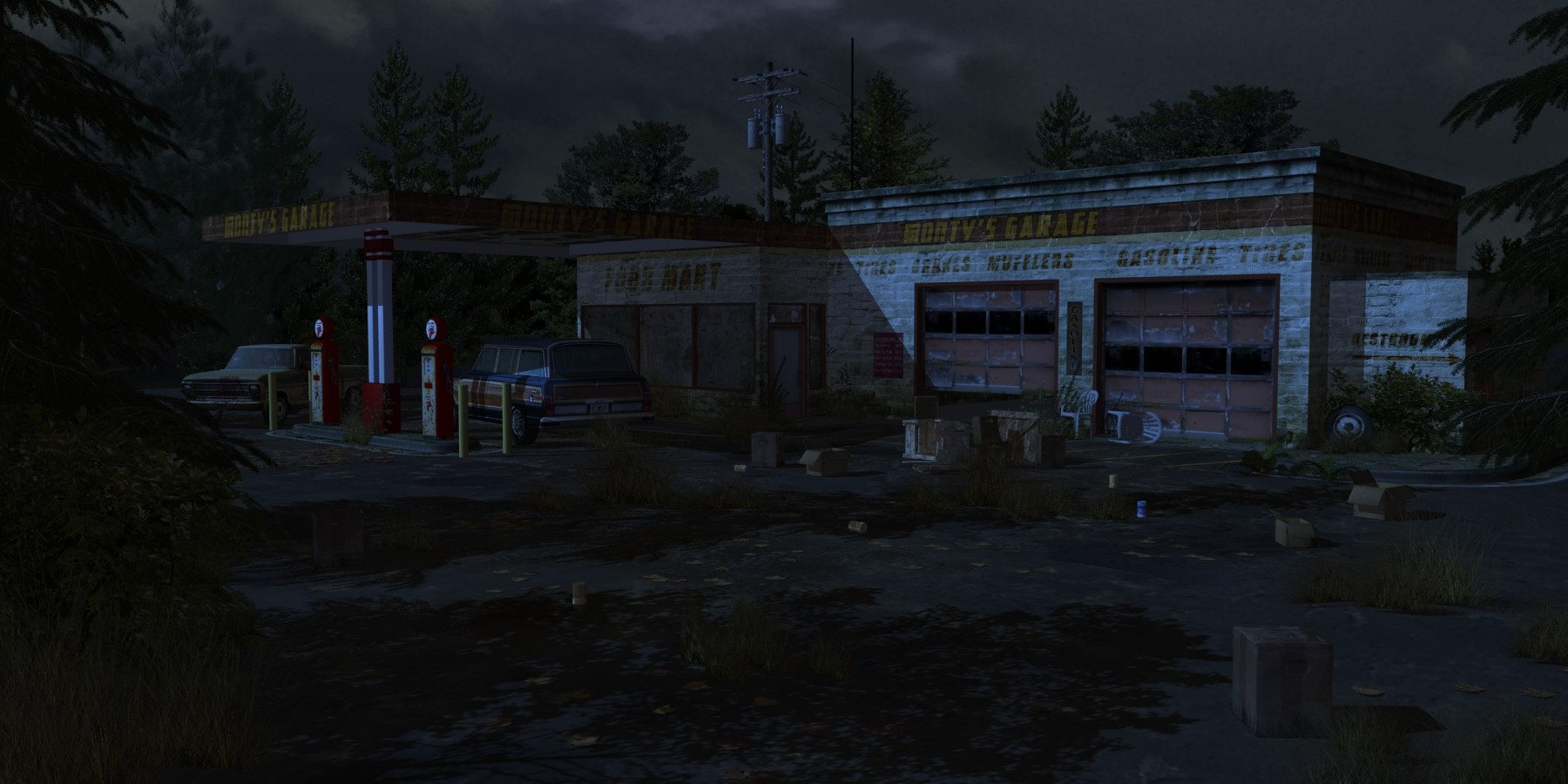 Artstation Abandoned Gas Station 2013 Christopher Demers