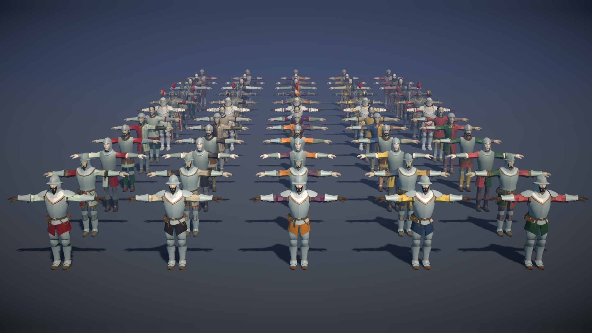 Polytope studio pt medieval lowpoly characters all