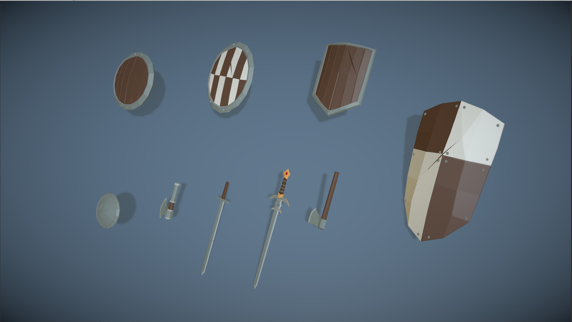 Polytope studio pt medieval lowpoly characters weapons 02