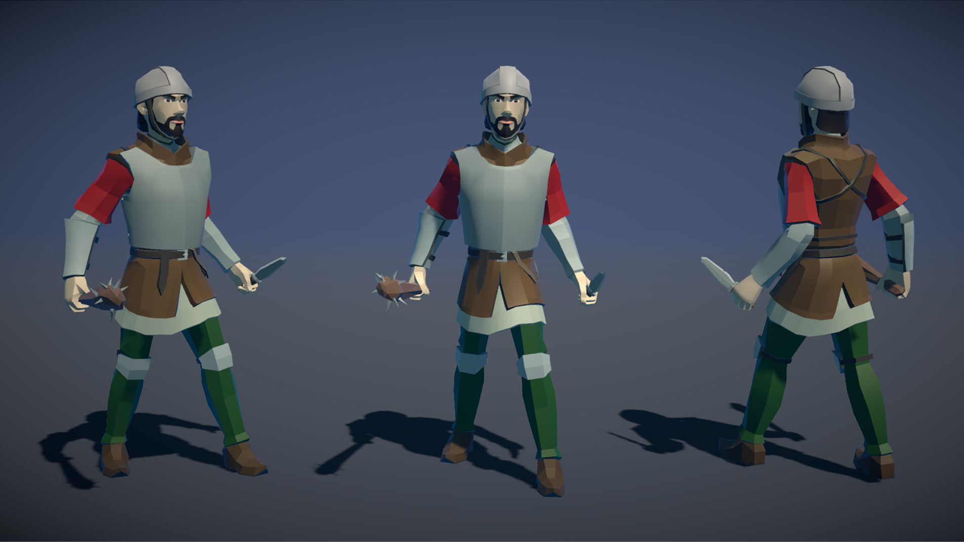 Polytope studio pt medieval lowpoly characters militia 03
