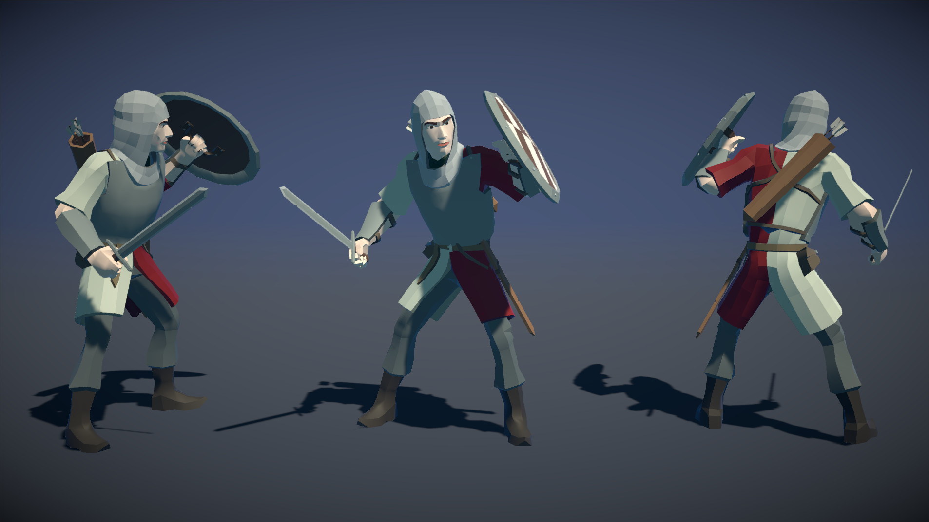 Polytope studio pt medieval lowpoly characters soldier 01