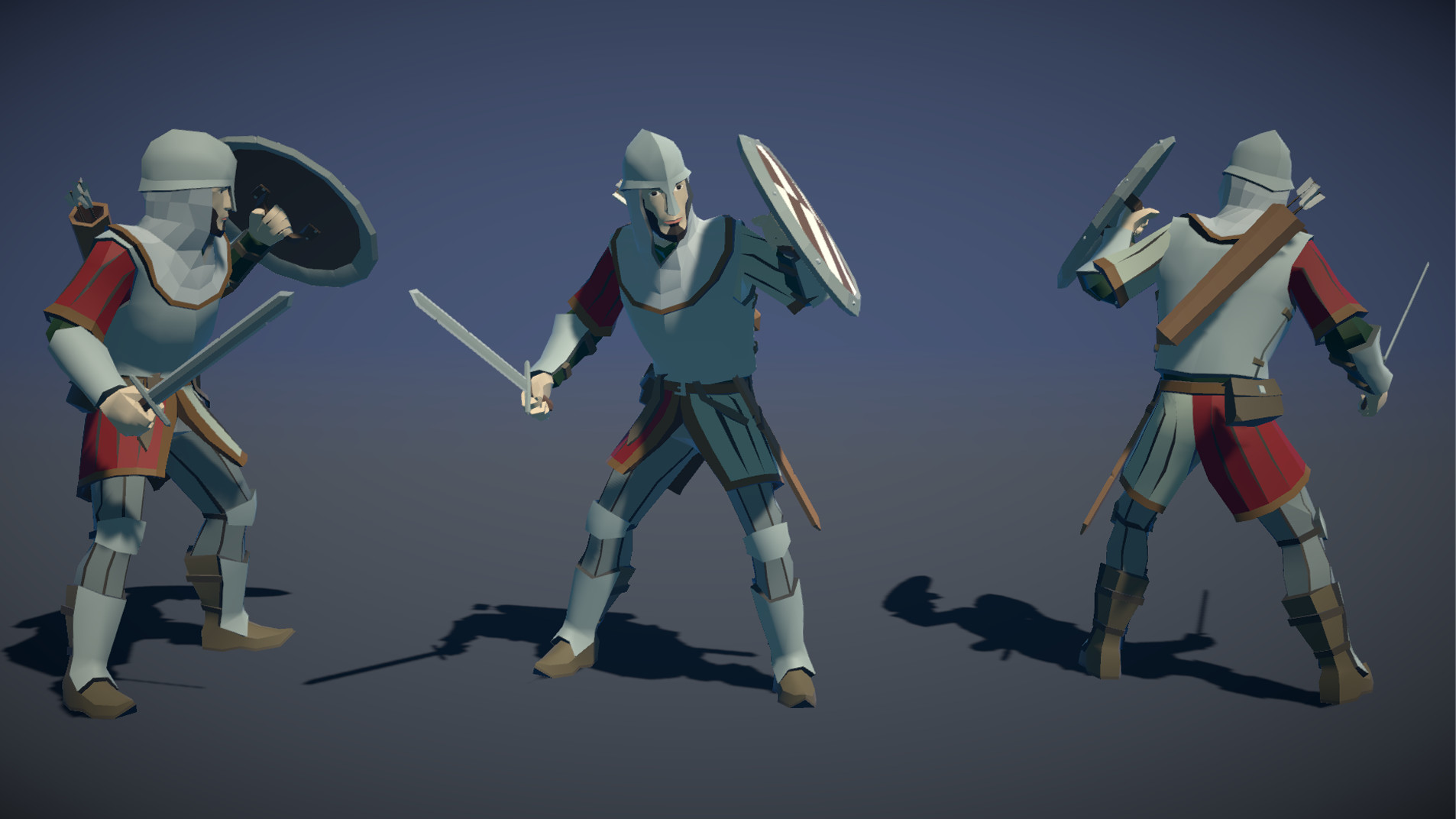 Polytope studio pt medieval lowpoly characters soldier 02