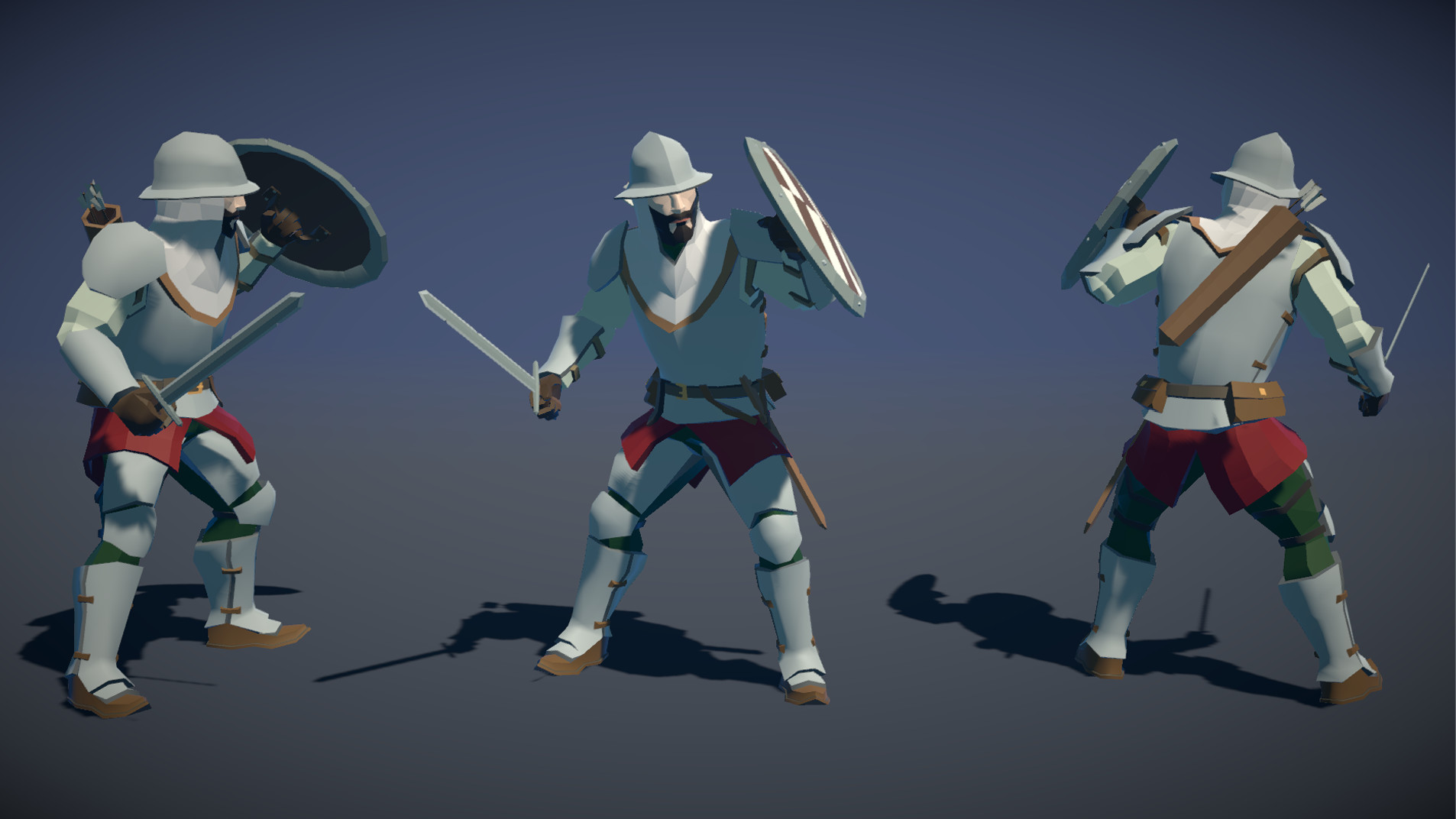 Polytope studio pt medieval lowpoly characters soldier 03