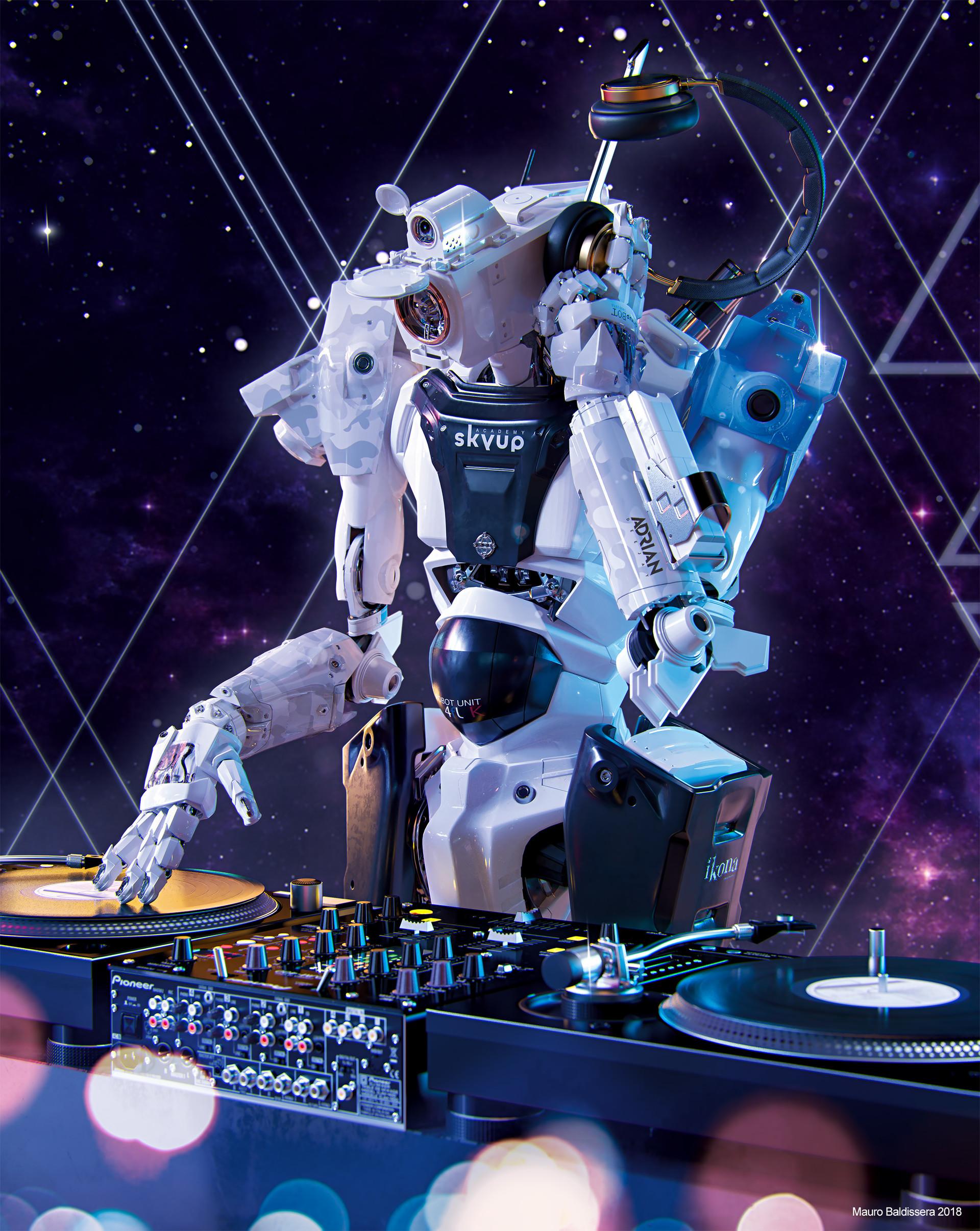 Mauro baldissera skyup academy robot deejay