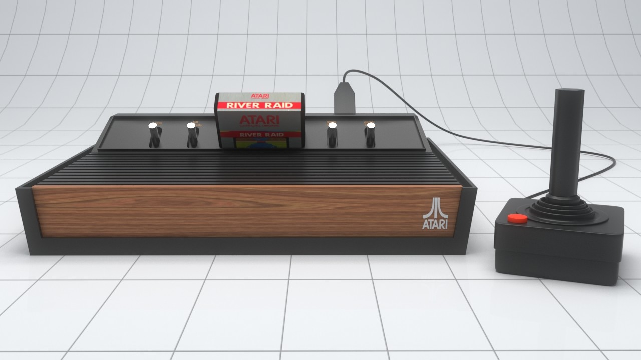 Alexandrino silva atari 3d model with control 02