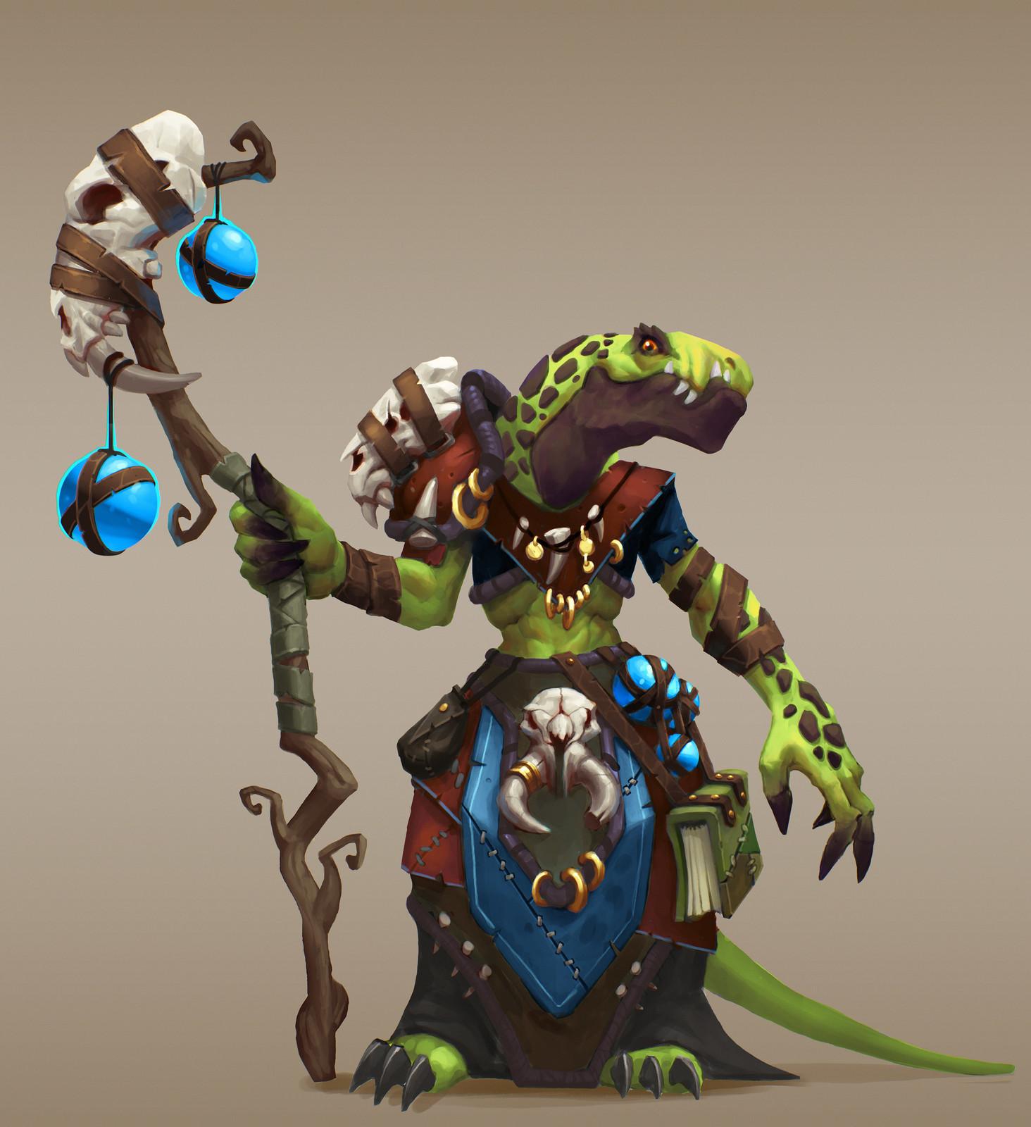 Warlock lizard (Tribal)