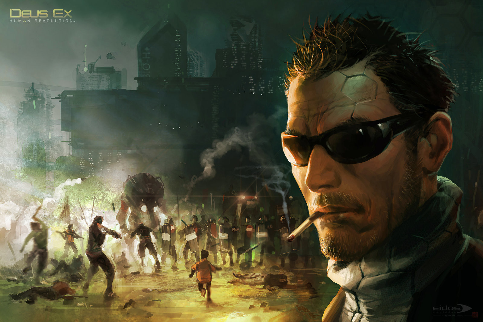 Very early pre-production  (~2007) moody/sketchy key art which eventually set the tone for the whole game!