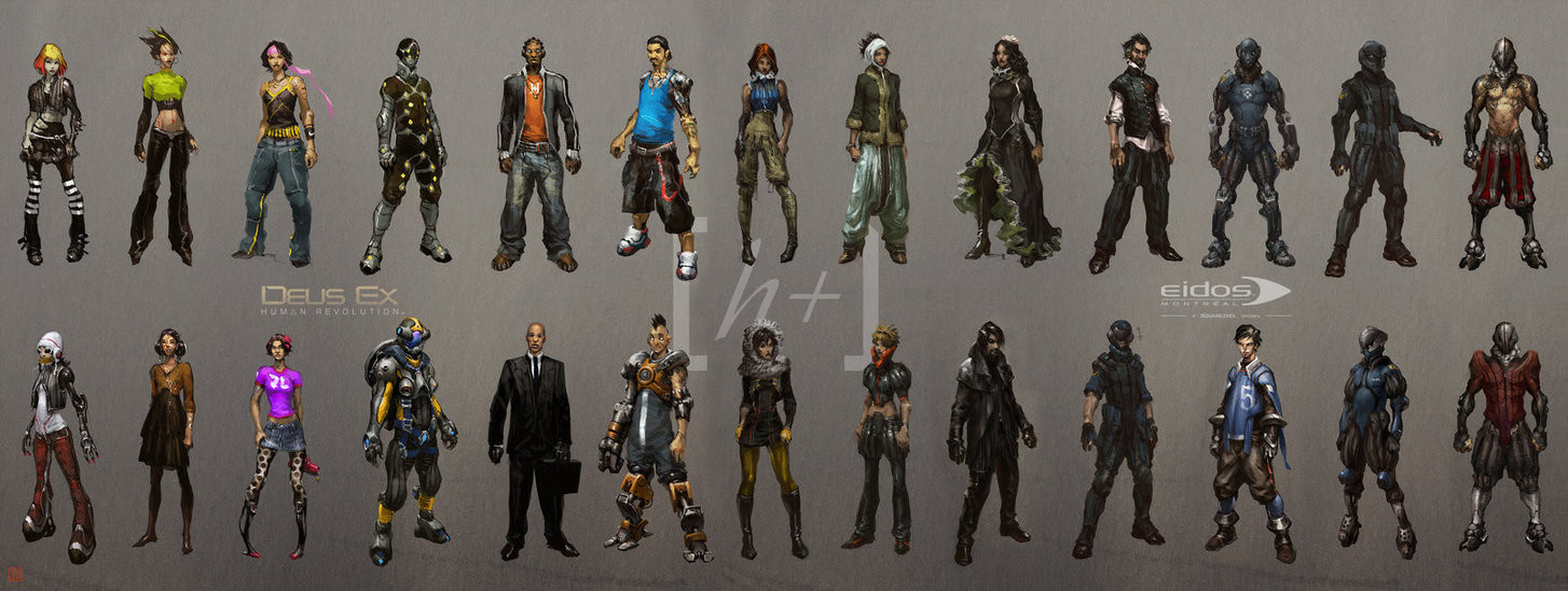 Early character design research