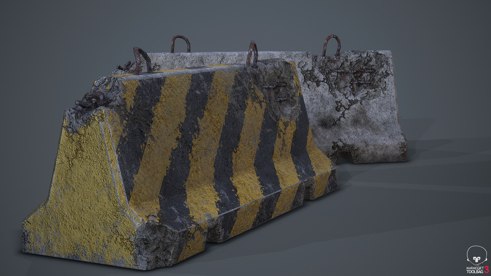 Roadblock Low Poly Prop