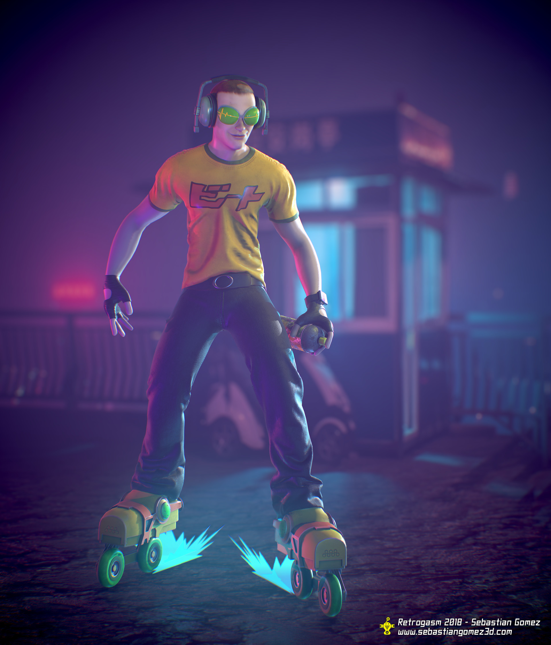 Artstation Beat Jet Set Radio Retrogasm 2018 Sebastian Gomez