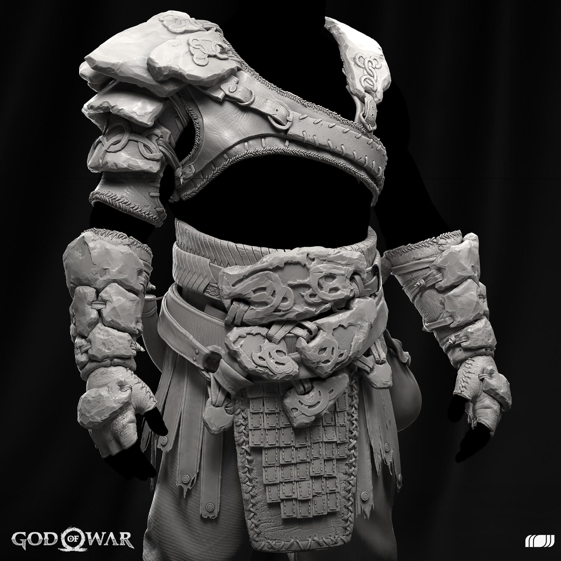 ArtStation - God Of War: Kratos Ancient armor set, Maxence Fleuret