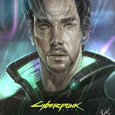 Robert crescenzio doctor strange cyberpunk 2077 fan art med res