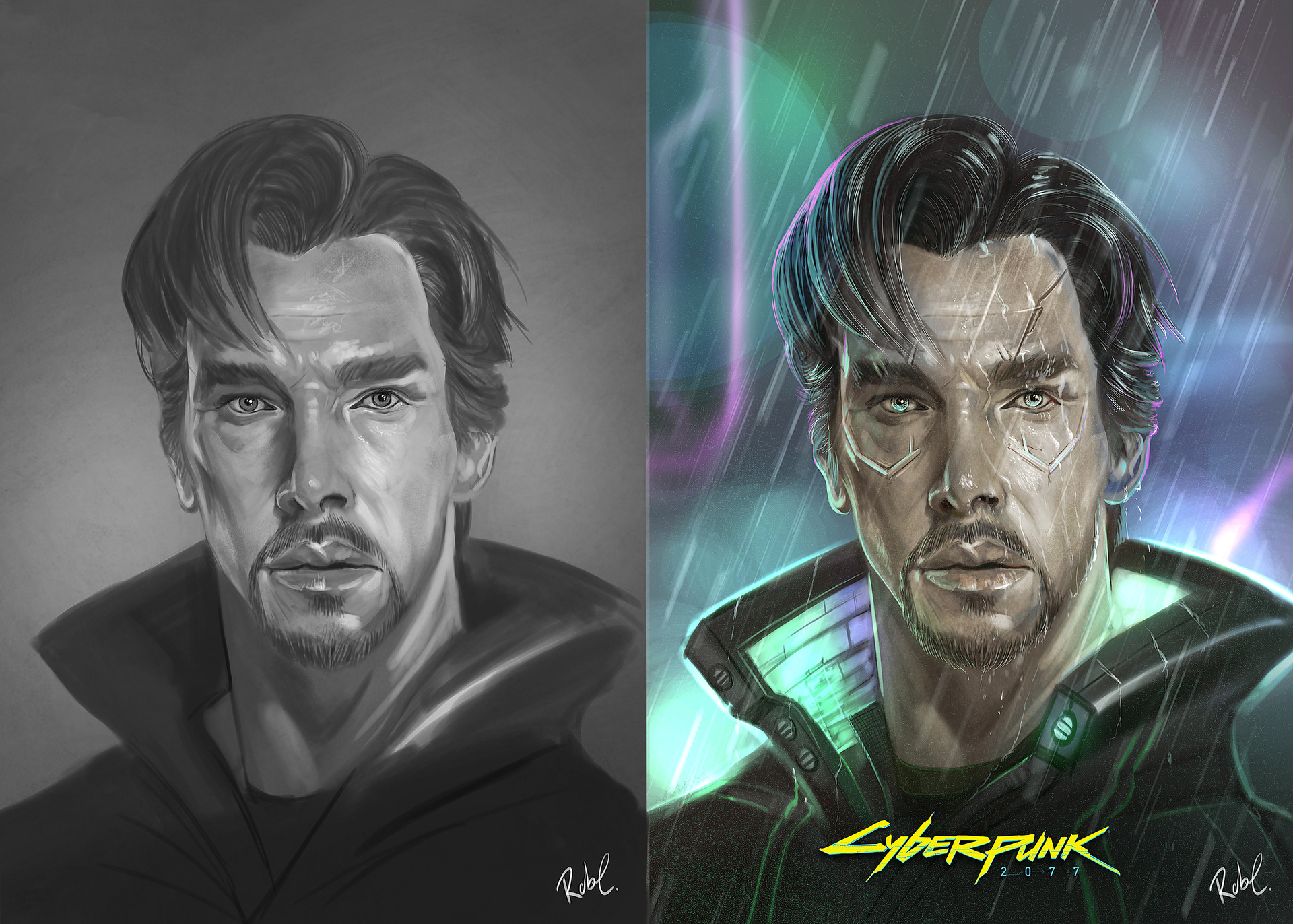 Robert crescenzio doctor strange cyberpunk 2077 fan art med res