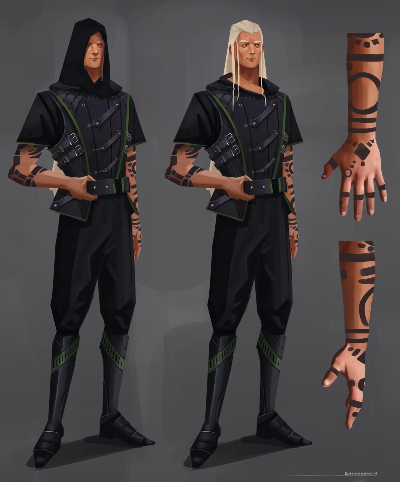 Jade Character Design - Ae'Ra Sunburn