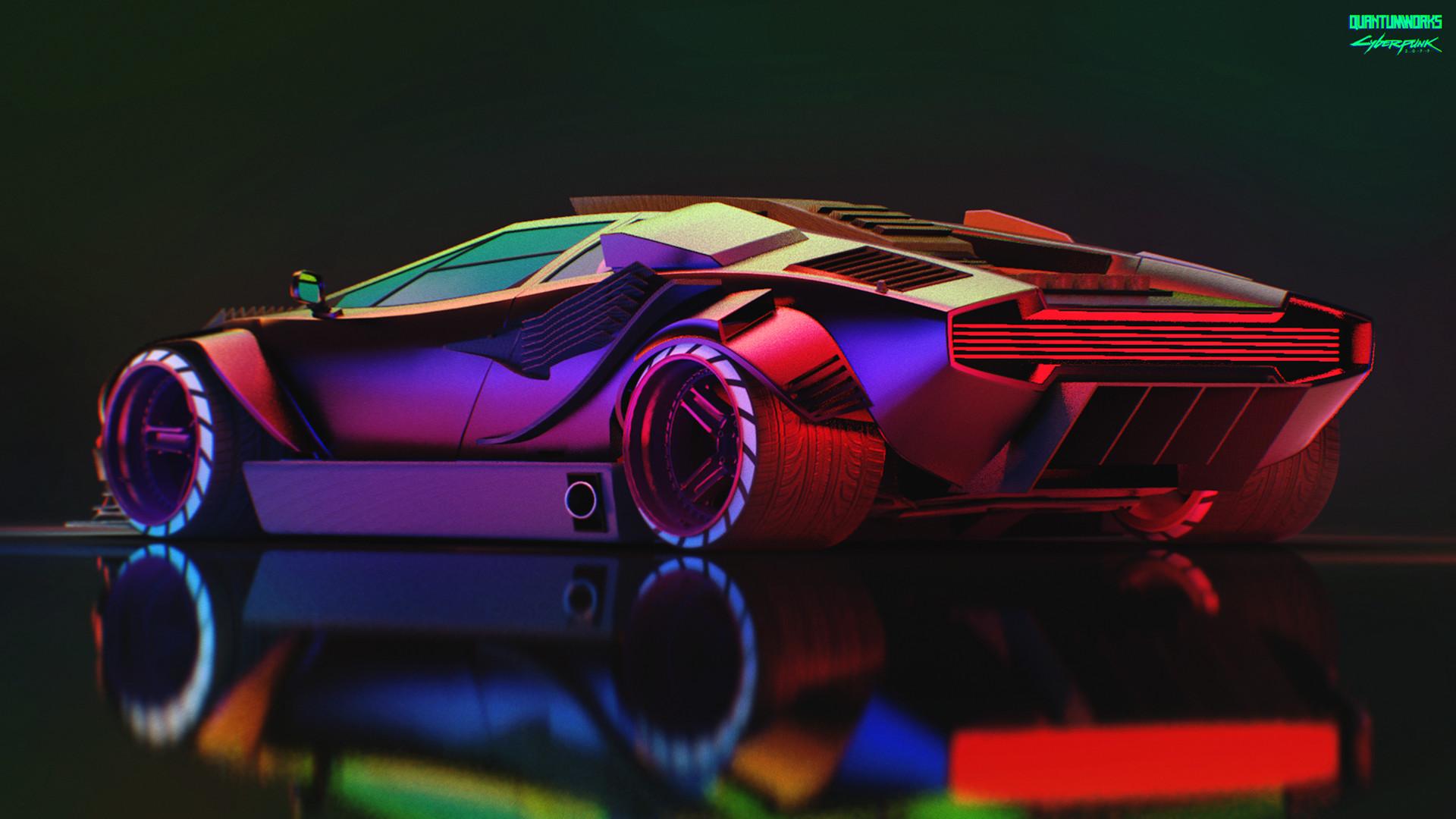 quantum works cyberpunk 2077 lamborghini countach