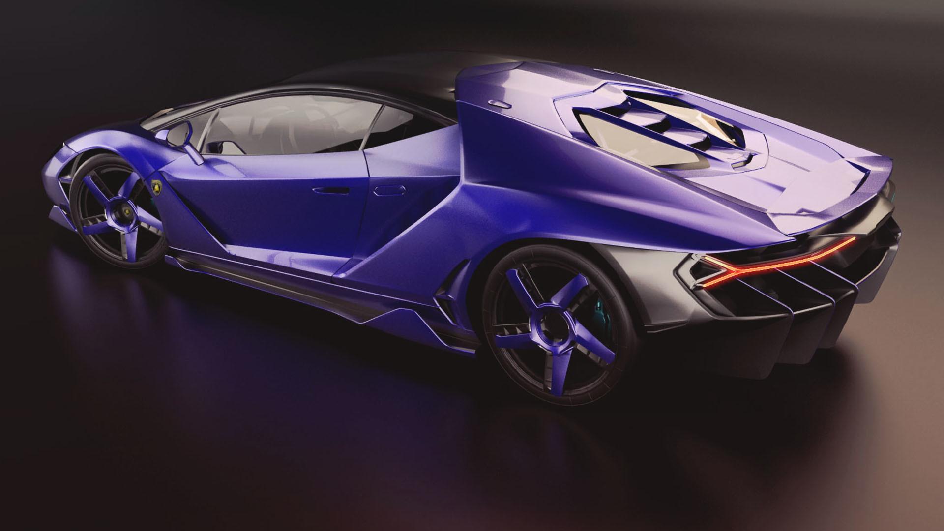 Artstation Lamborghini Centenario Lurd Benioff Mahdikhani