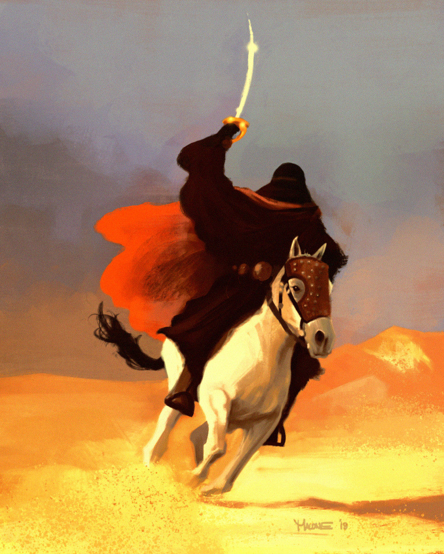 Luke R K Malone Arabian Horse Sketch 2