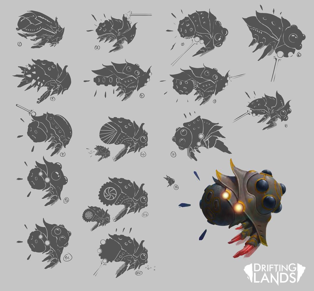 Concept art for boss