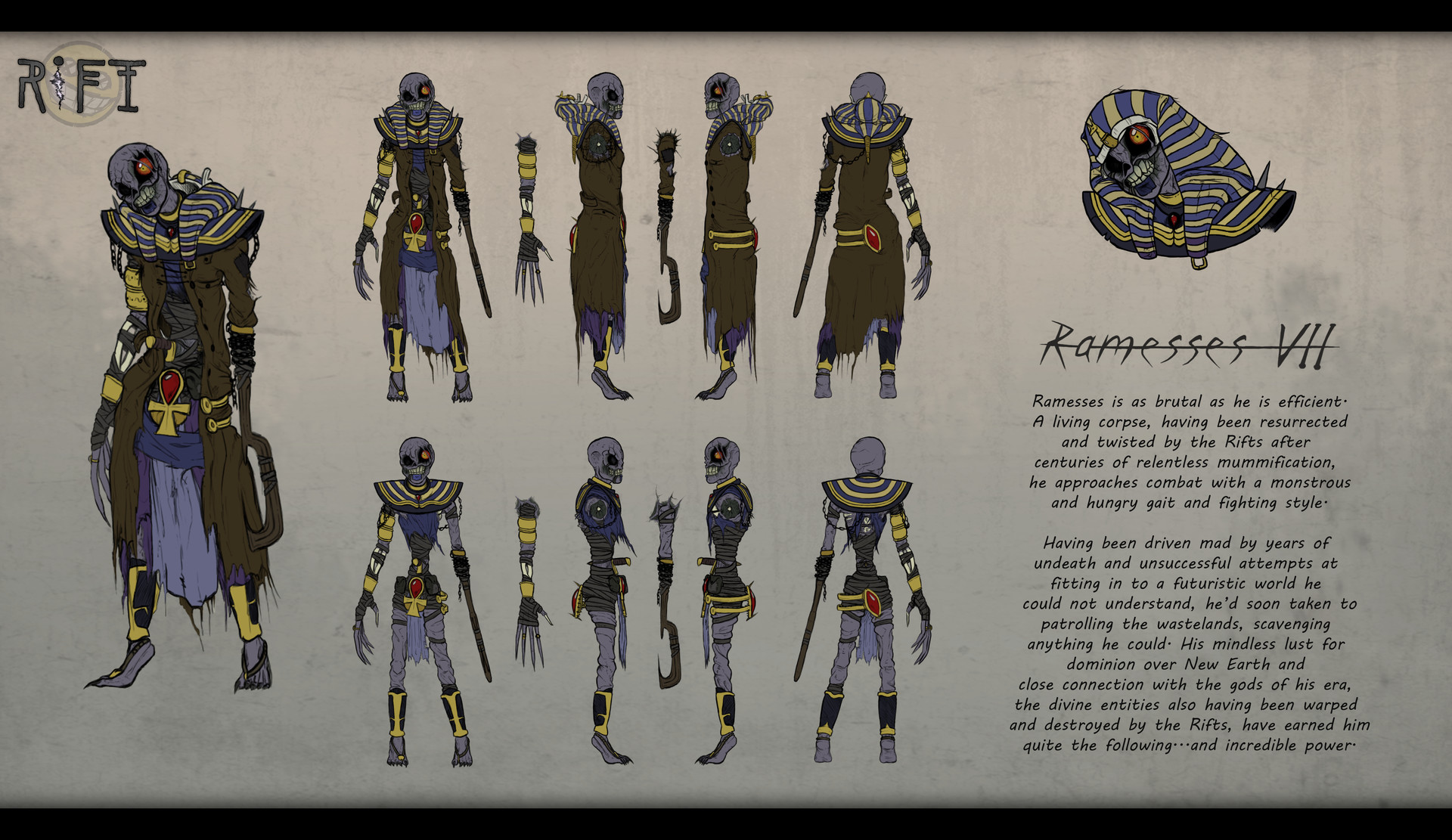 The Core Character Model Sheet Depicting Ramesses VII Himself