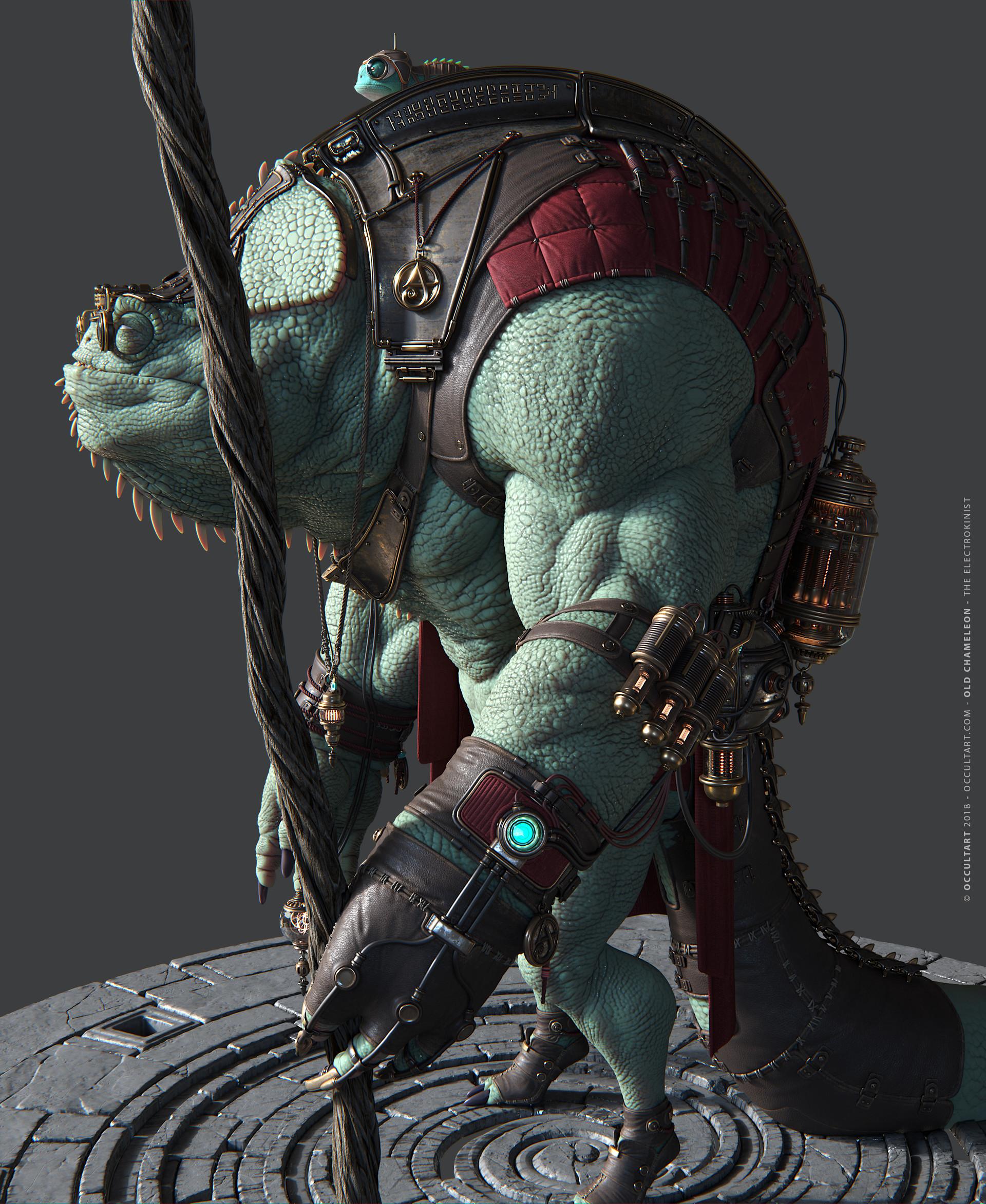 Occultart   chameleon green