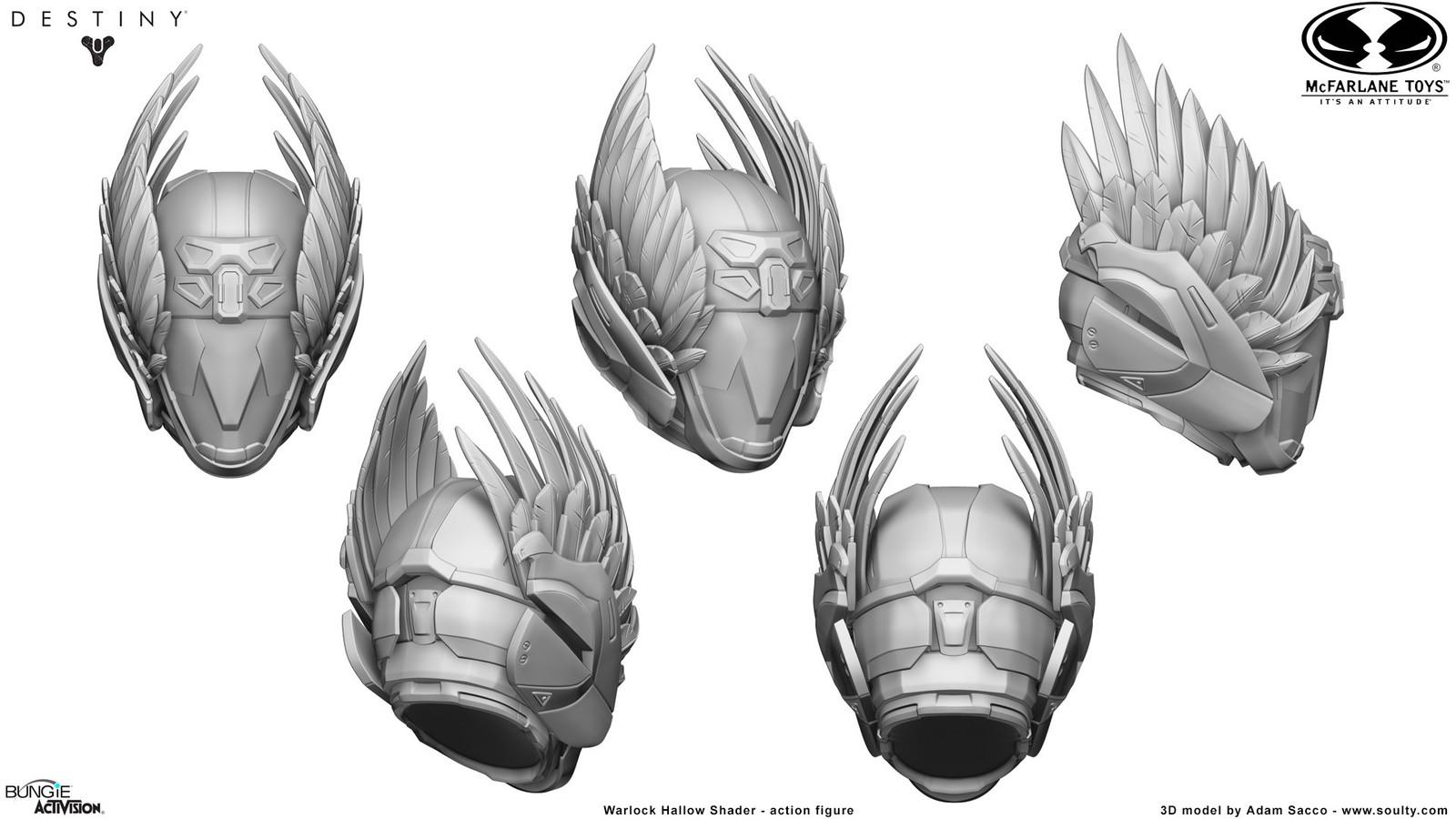 3D Model _ Mcfarlane Toys - Destiny: Warlock Hallow Beyond Nemesis - Action figure