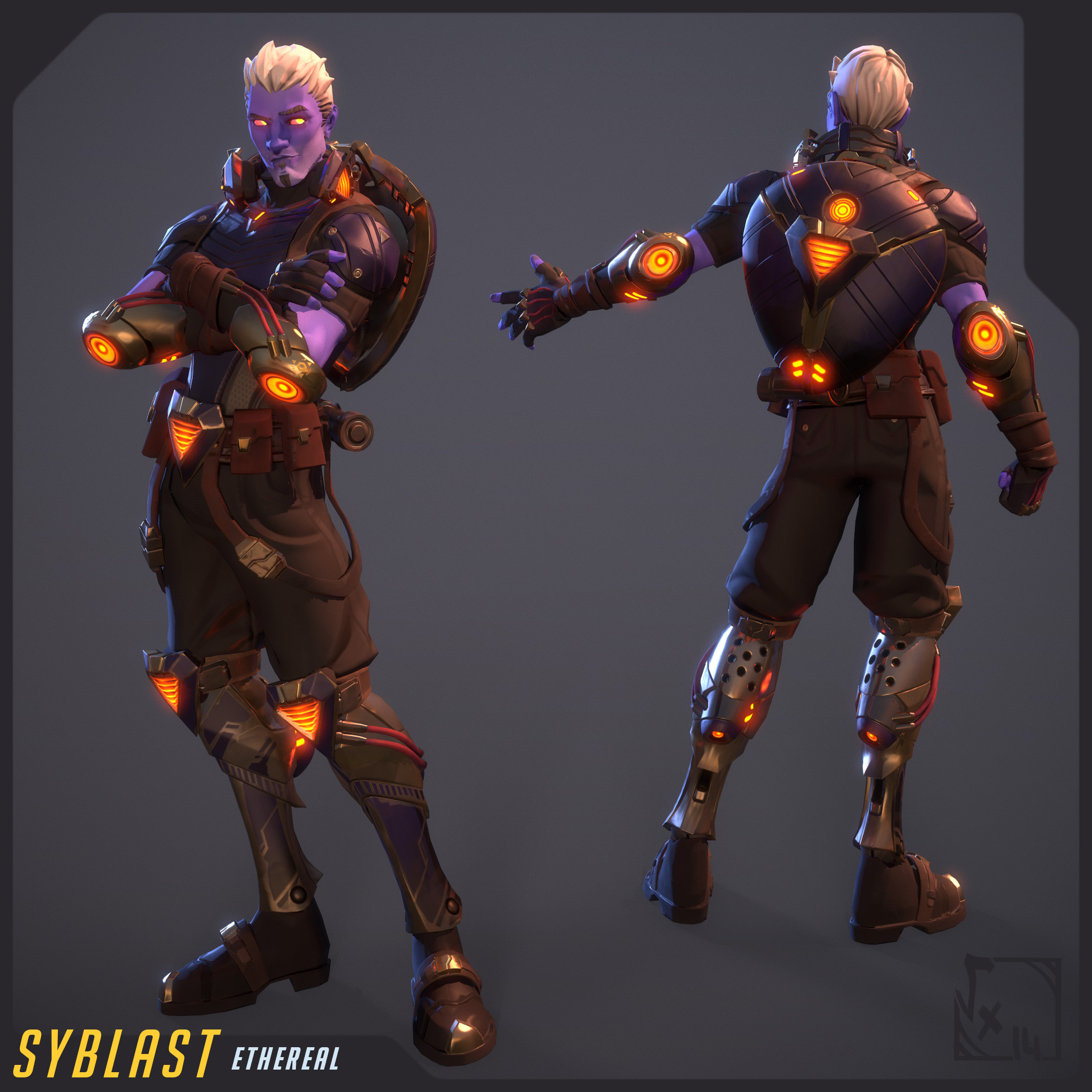 Syblast - Ethereal skin - fully textured with 3D-Coat and rigged/skinned on Akeytsu