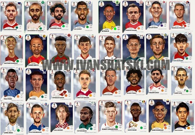 World Cup Russia 2018 stars