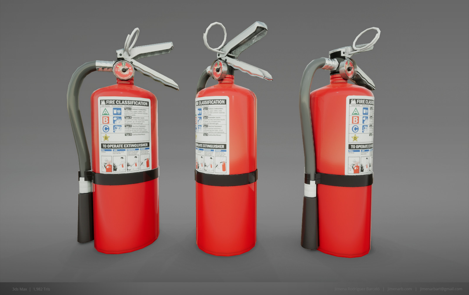 Fire Extinguisher - Low Poly
