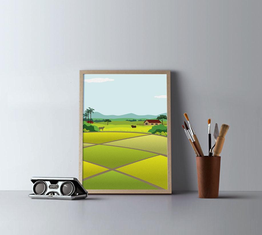224c85c92957 Rajesh r sawant 001 minimalist wood frames portrait landscape presentation mockup  psd poster scene