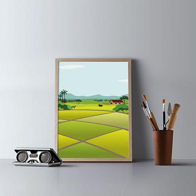 Rajesh r sawant 001 minimalist wood frames portrait landscape presentation mockup psd poster scene