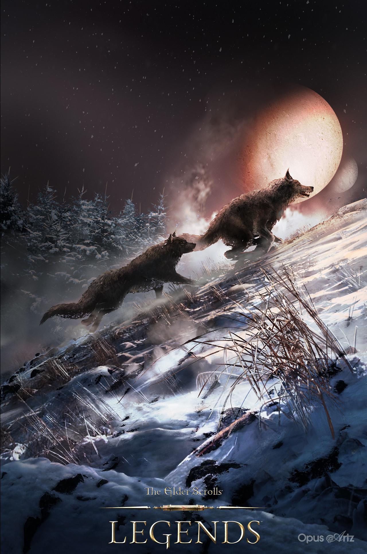 Opus artz tesl pack wolf