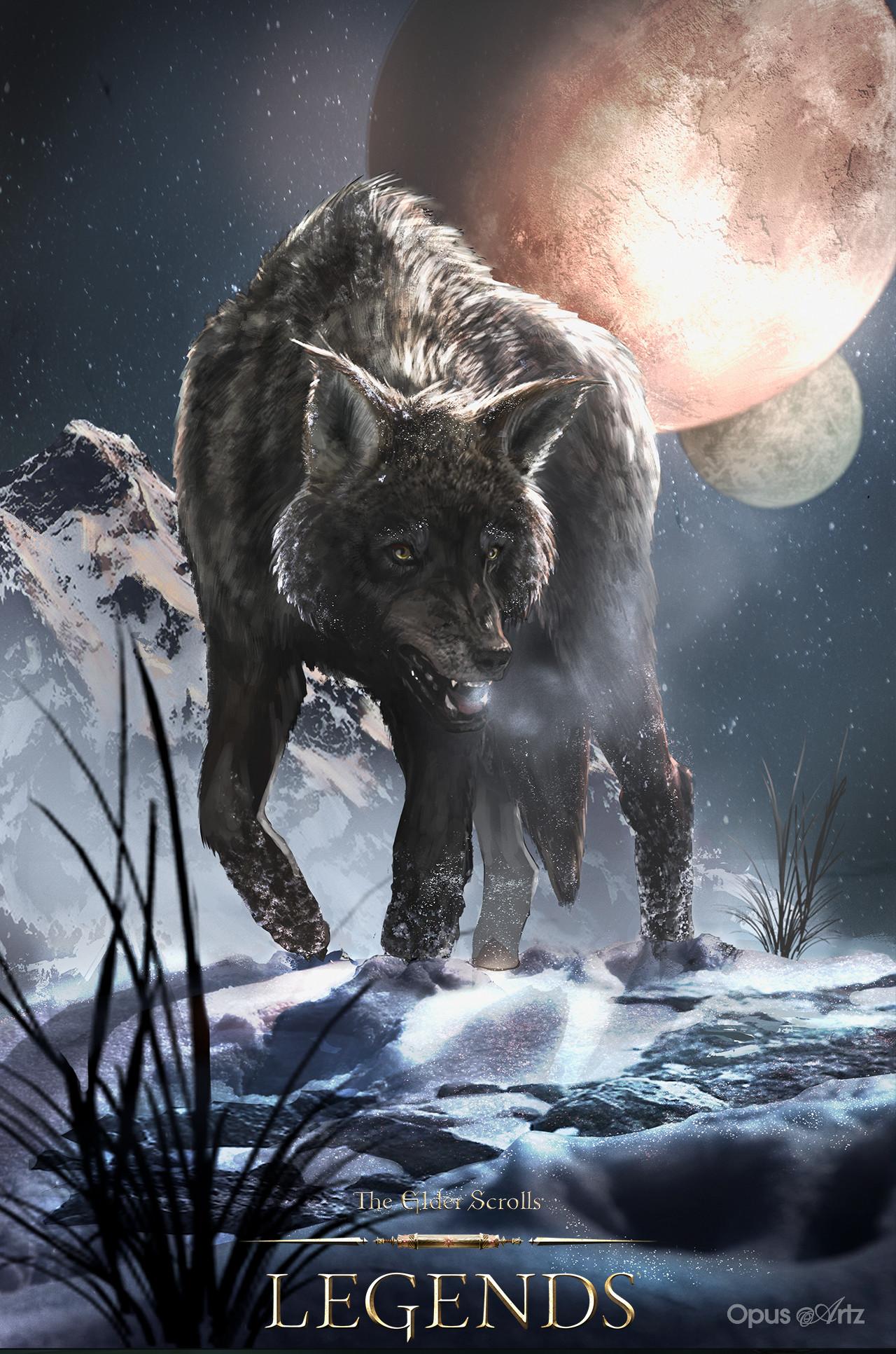 Opus artz tesl snow wolf