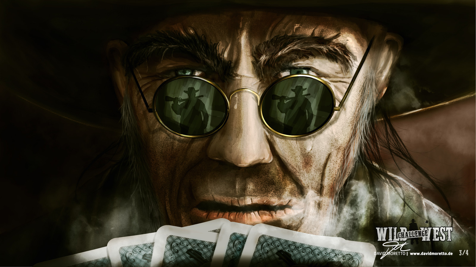 Wild West Keyframe Illustration THE LATE REVENGE! #3 / 4   There he sat - his poker cards in his hand, his cold eyes ,freezing as he saw Joe standing in the entrance of the saloon. Not right now, he thought.