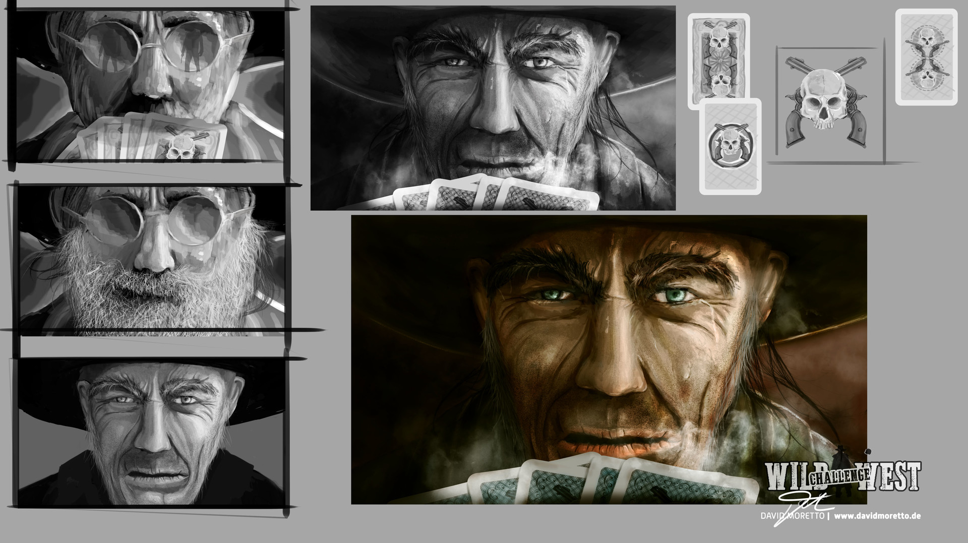 David moretto wild west pokerface concept