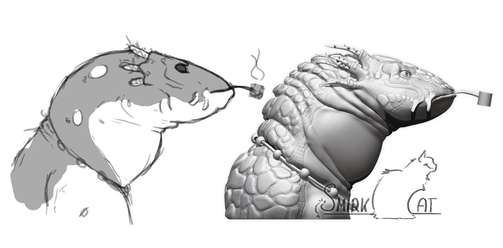 Smoking Axolotl Guy