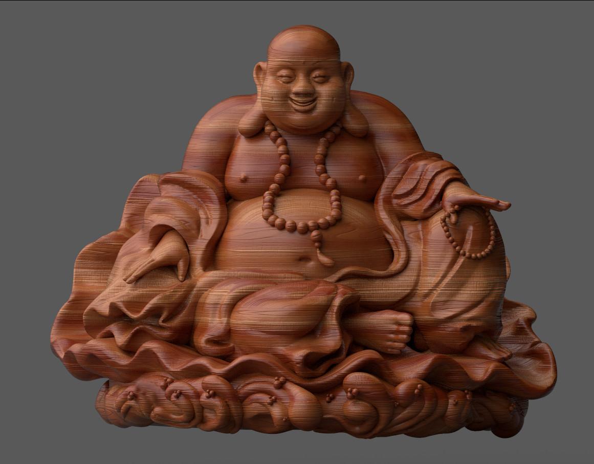 Pierre benjamin buddha wood 1