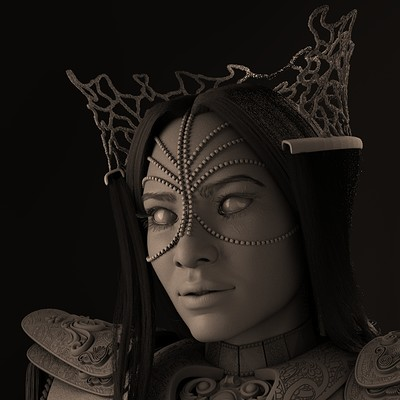 Menimus - The Royal Enchantress: High poly
