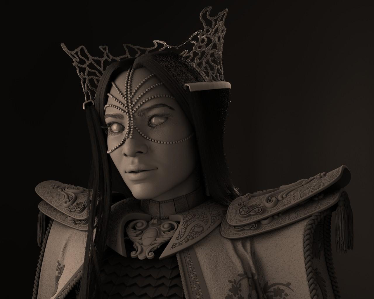 Menimus - The Royal Enchantress: High poly