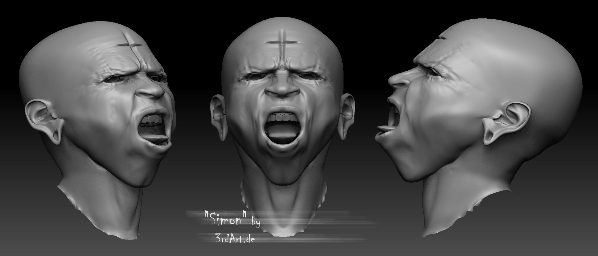 Zbrush sculpt for this project