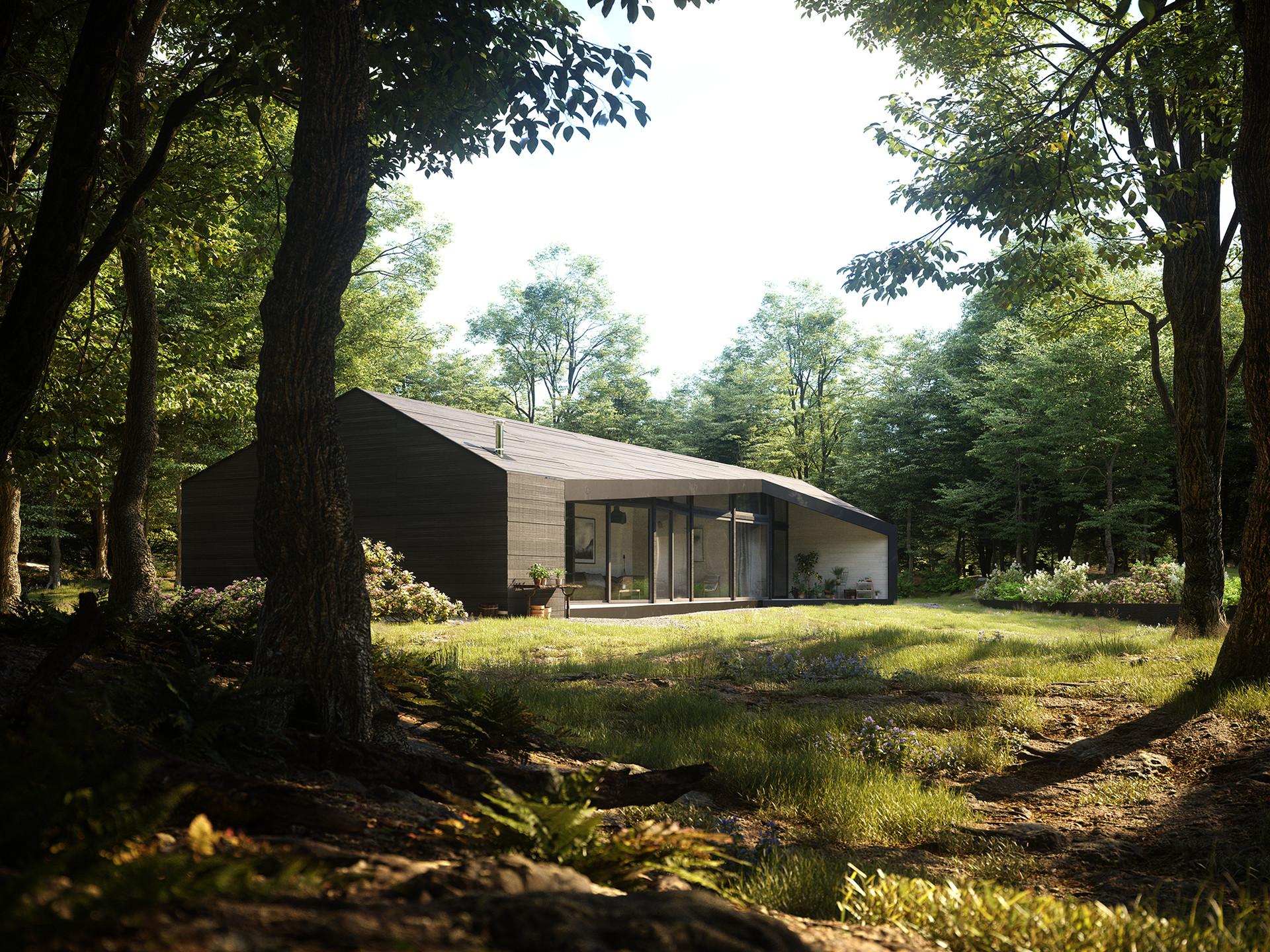 Artstation House In The Woods 005 Johannes Tscharn