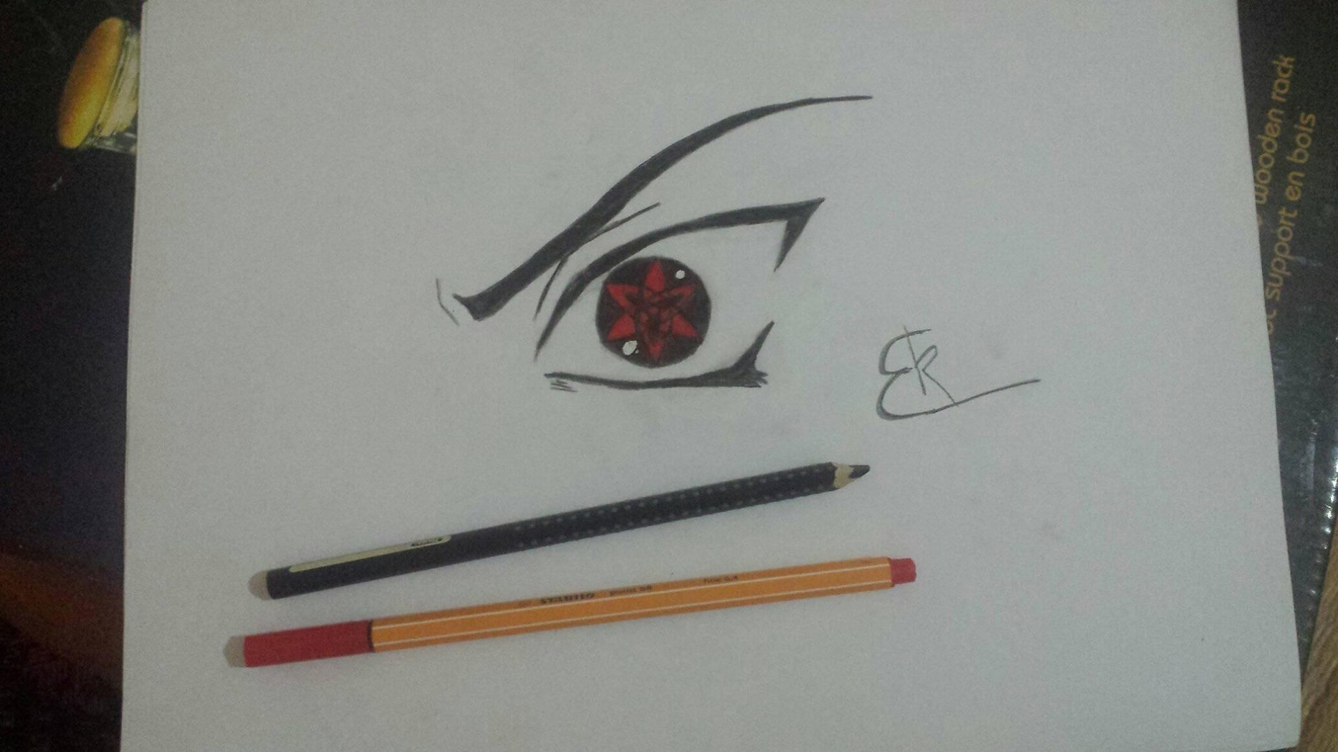 Artstation Sasuke Mangekyou Sharingan Hand Drawing