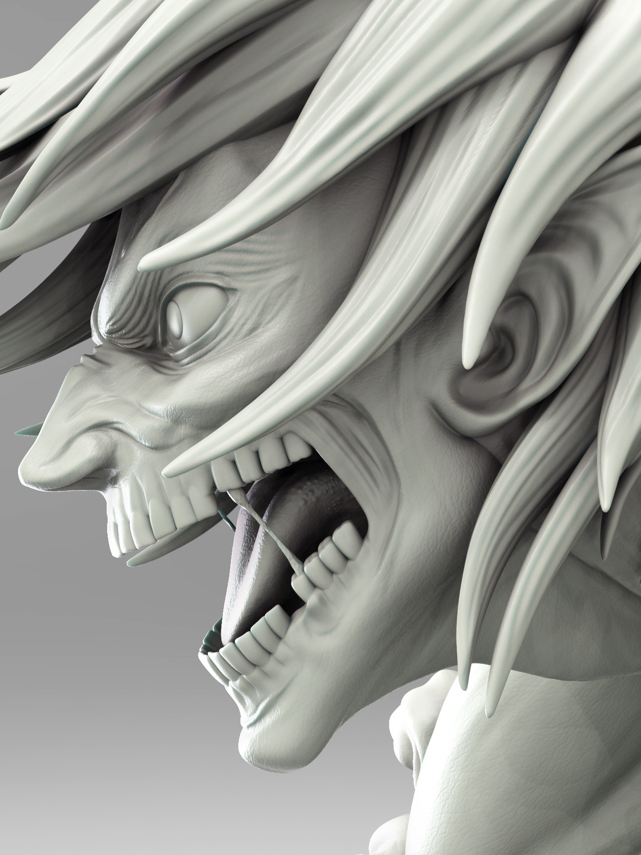 "eren titan head ArtStation - Eren ""the Attack Titan"" from concept to 2D final"