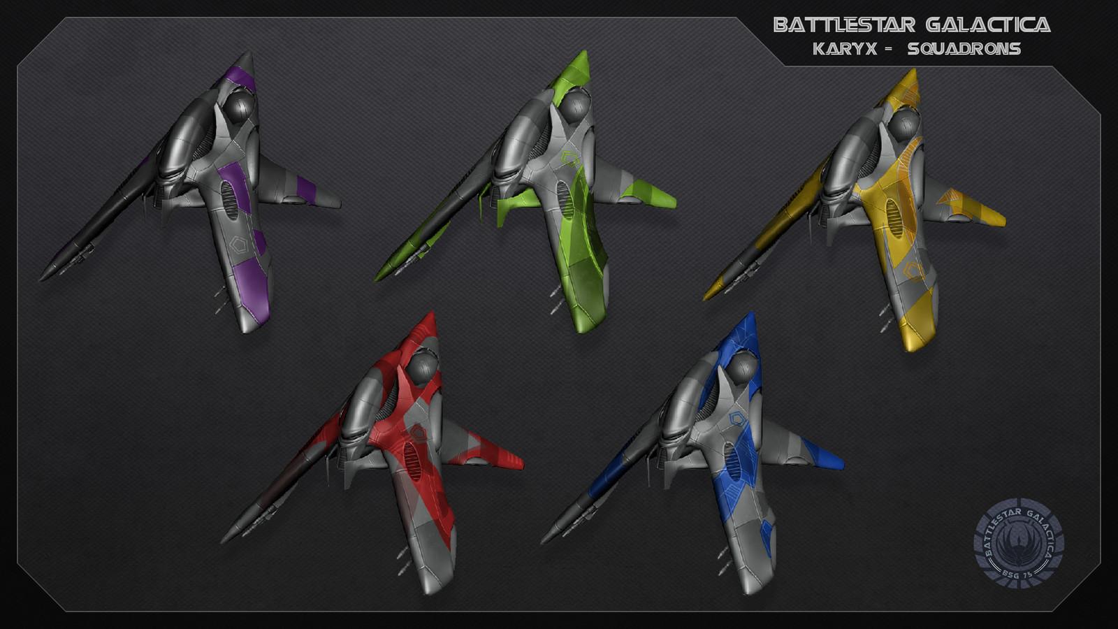 Cylon Karyx Squadron variations