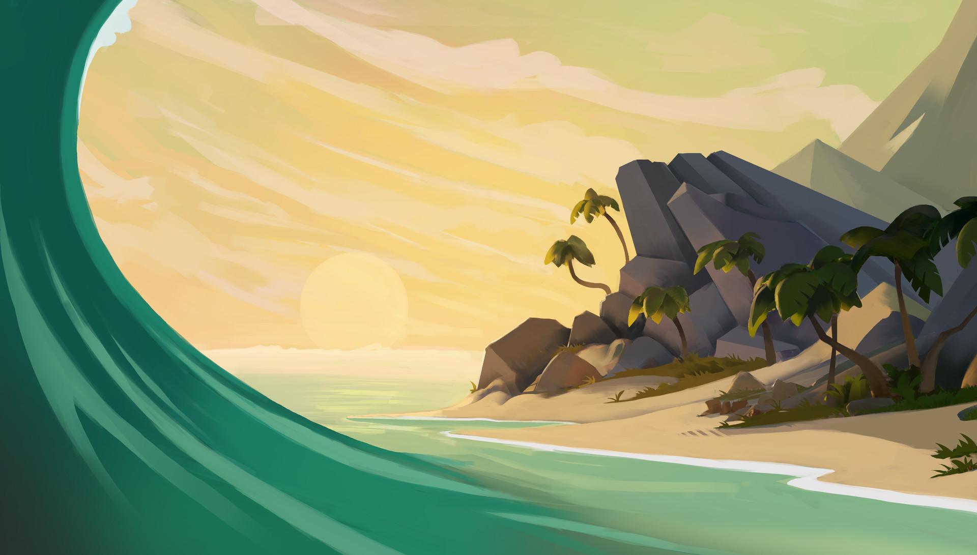 Samma van klaarbergen beachscene2
