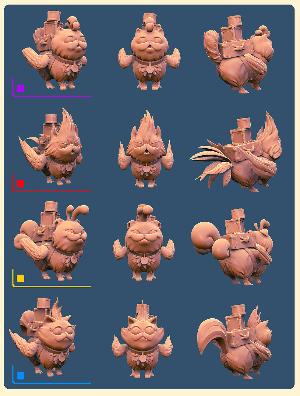 Catakeets high poly for 3d printing