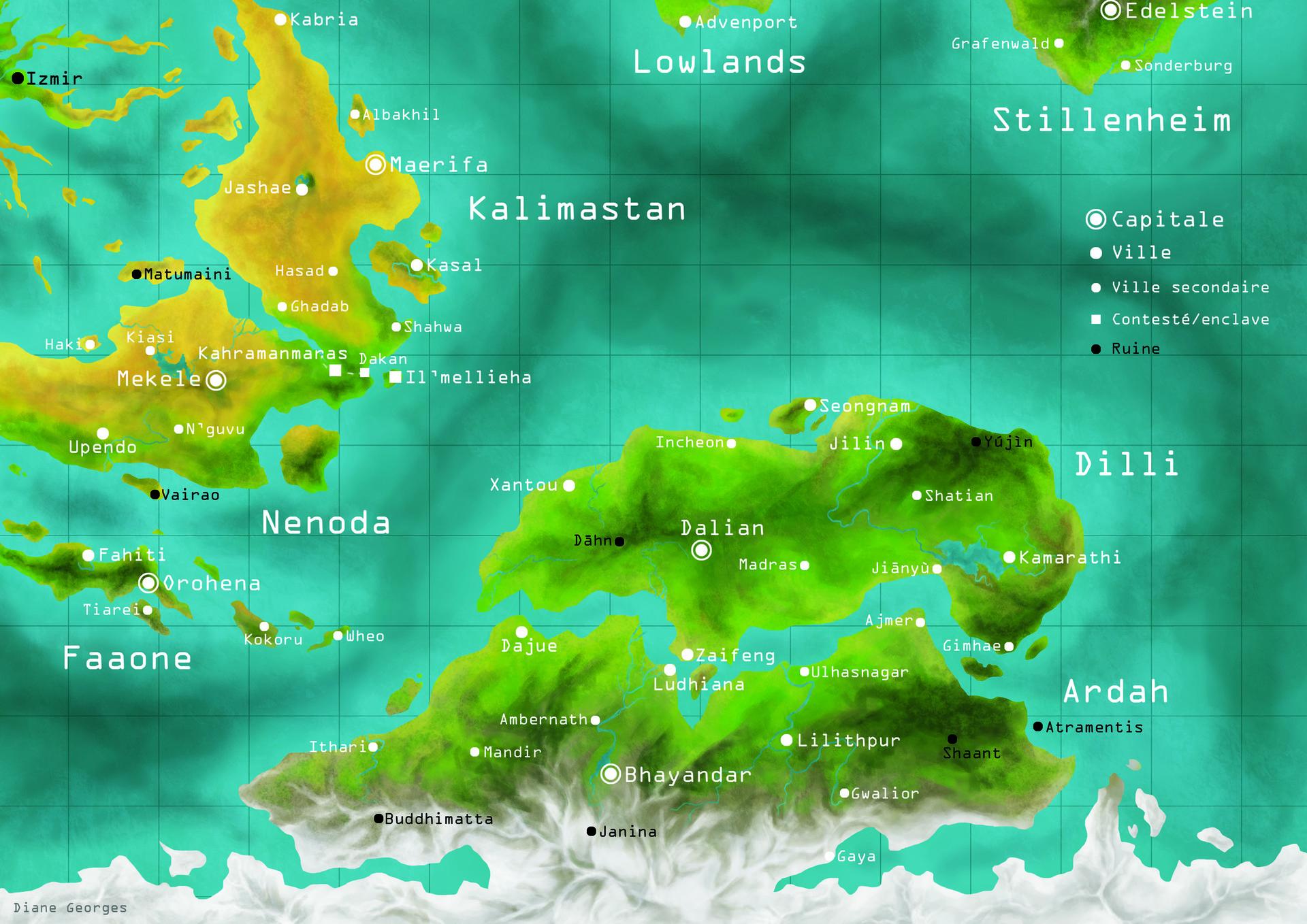 Diane georges carte sud est