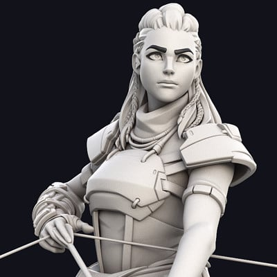 Aloy/Overwatch - High Poly (Posing)