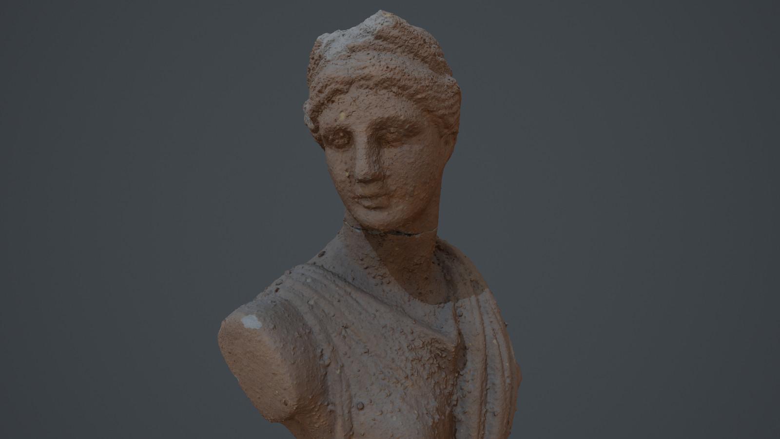 Scanned Greek Statue